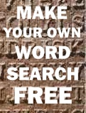 Make Your Own Word Search Free